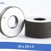 25 x 10 x 5 100x100 - Gốm Làm sạch, siêu âm Đầu dò áp điện, Vòng gốm PZT, Nhà sản xuất chip Piezo để làm sạch siêu âm