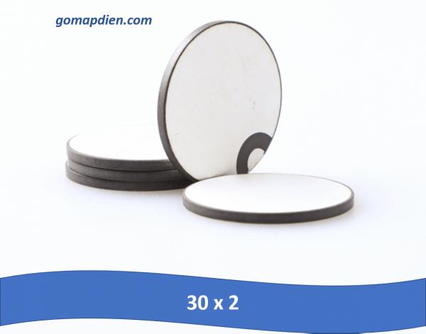 30 x 2 1 600x471 - Gốm siêu âm áp điện cho máy y tế 30 x 2mm
