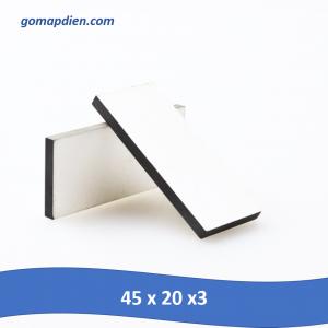 Gốm áp điện siêu âm vuông 45 x 20 x 3mm