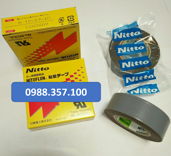 0.18 x 19 x 10 - Băng dính nhiệt Nitto 903 UL kích thước  0,18mm x 19mm x 10m